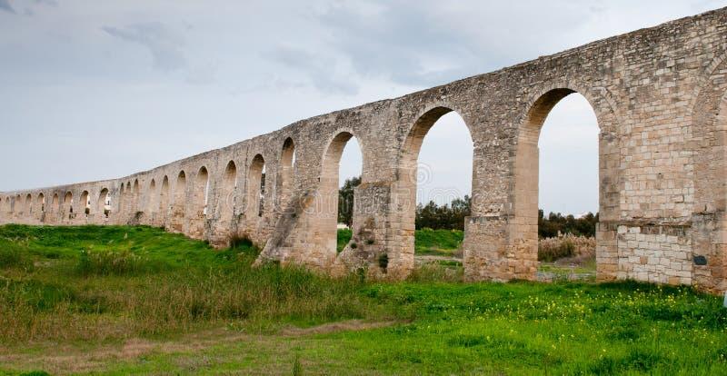 Aqueduc de Kamares, Larnaca Chypre image stock