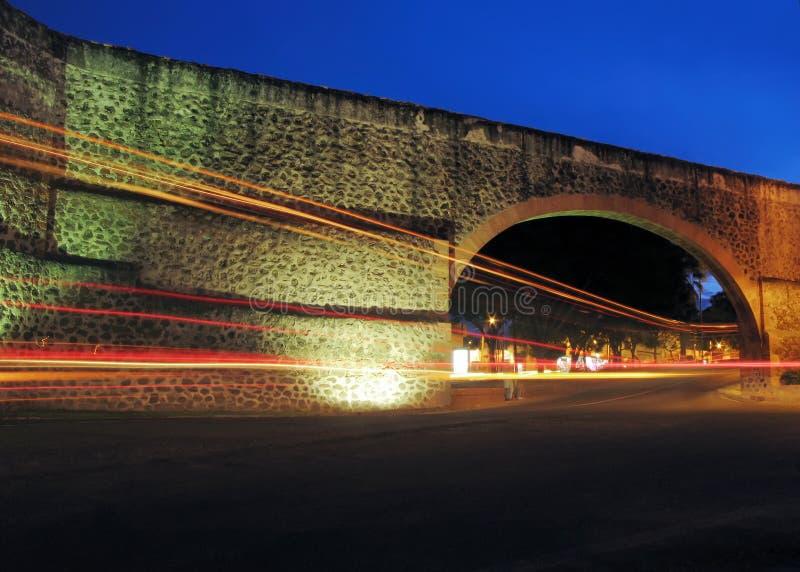 Aqueduc de la visibilité directe Arcos de Queretaro photo stock