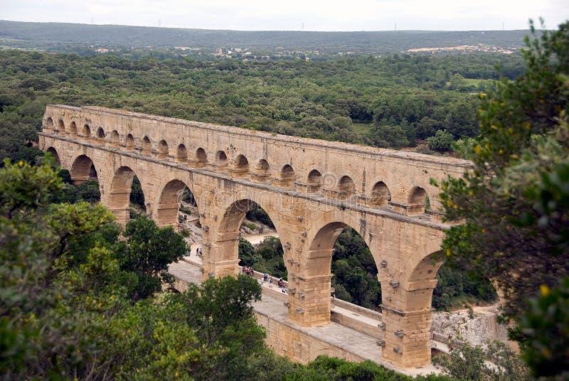 Aqueduc de Pont du le Gard photos stock