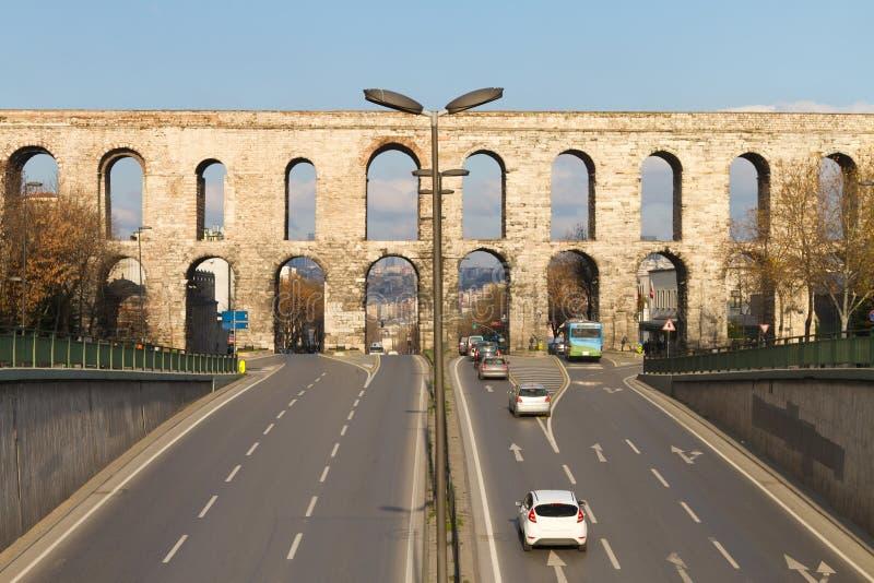 Aqueduc de Valens d'Istanbul images libres de droits