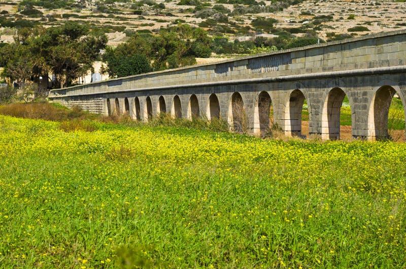 Aqueduc, Malte Gozo images libres de droits