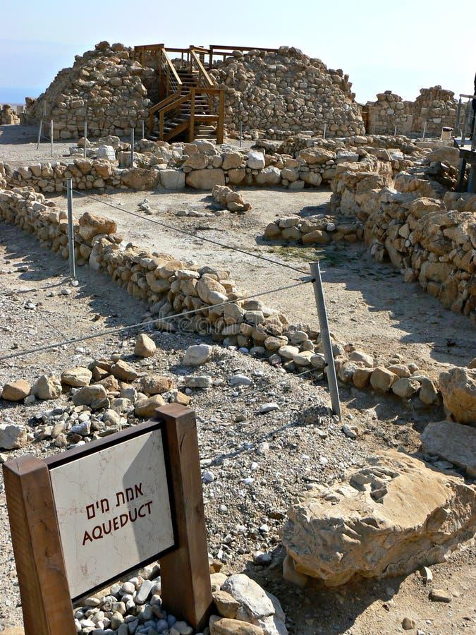 Aqueduc - Qumran images libres de droits