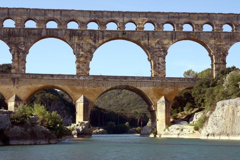 Aqueduc romain image stock