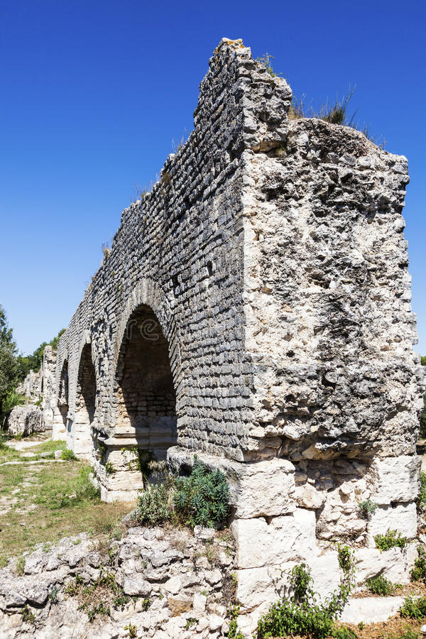 Aqueduc Romain de Barbegal lizenzfreie stockbilder