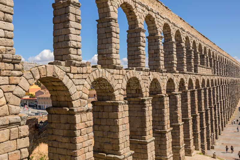 Aqueduc romain de Ségovie images stock