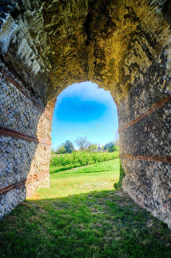 Aqueduc romain de Ther Gier, près de Lyon, Frances image stock