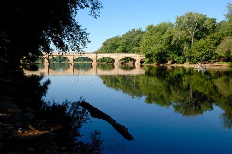 Aqueduc scénique dans le Maryland, Etats-Unis photo libre de droits