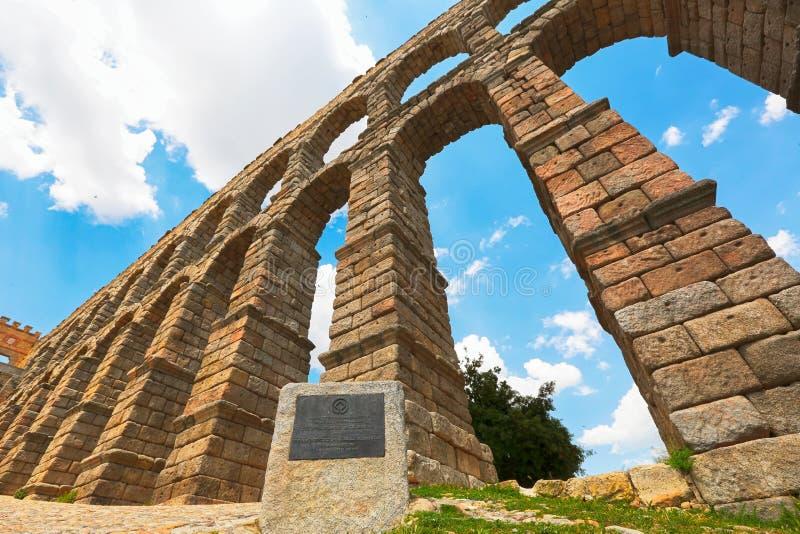 aqueduc segovia Espagne image libre de droits