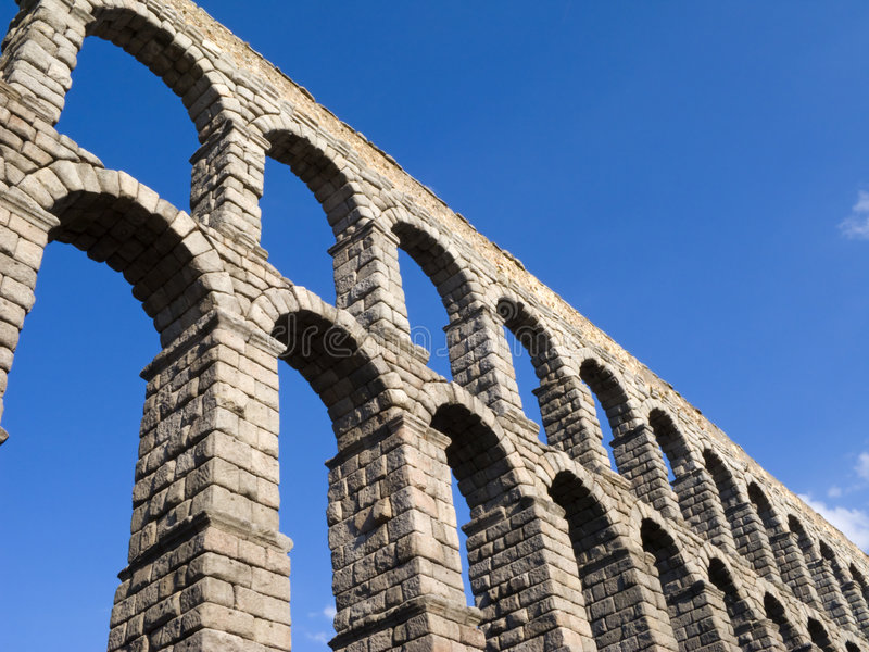 Download Aqueduct stock image. Image of aqueduct, town, city, color - 6576823