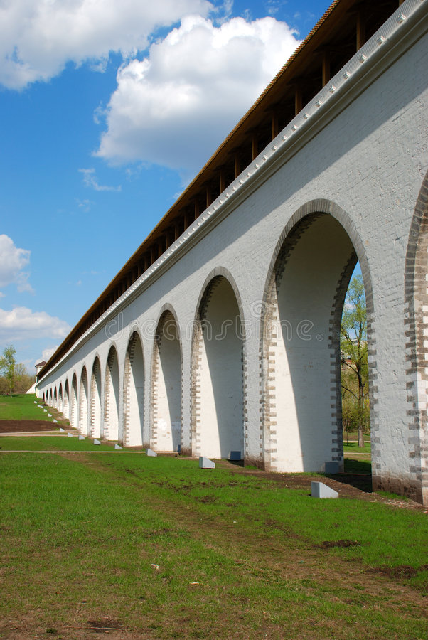 Aqueduct. Old aqueduct in the Moscow park royalty free stock photo