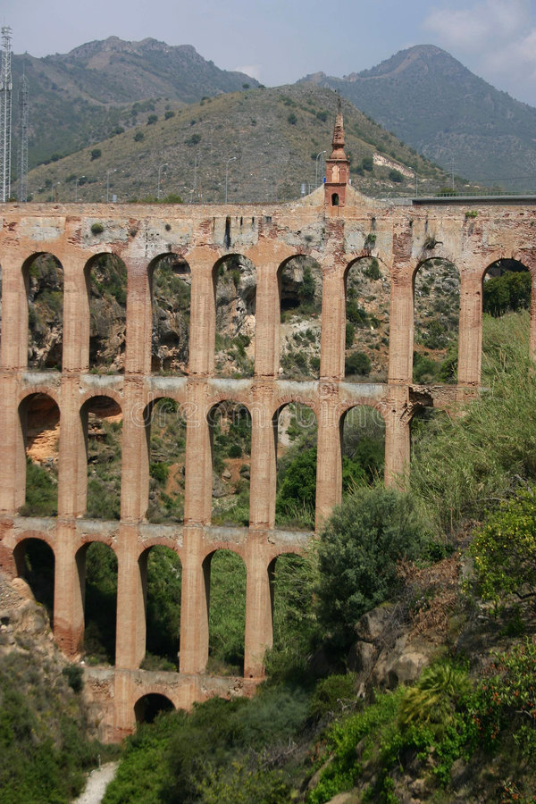 Aqueduct, Andalucia, Spain royalty free stock image