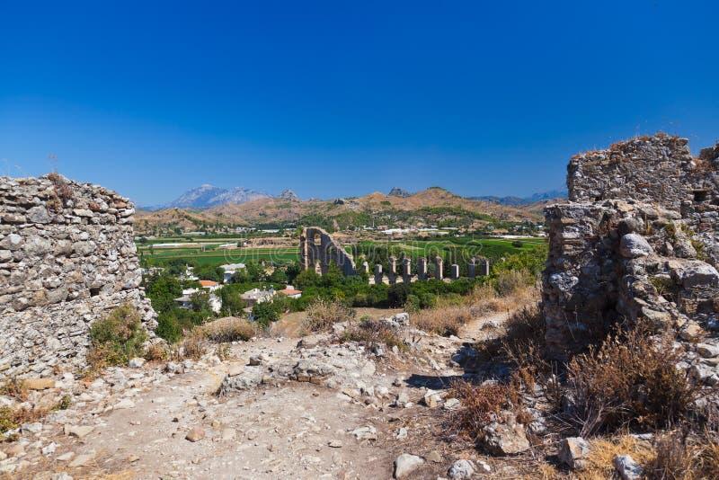 Aqueduct At Aspendos In Antalya Turkey Royalty Free Stock Photography