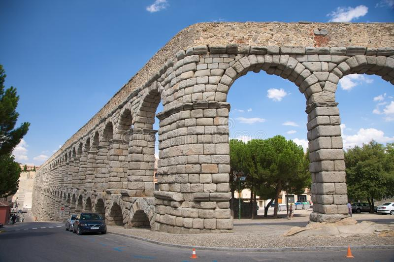Aqueduct curve royalty free stock images
