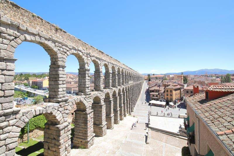Aqueduct historical architecture Roman ruin Segovia Spain. Aqueduct historical architecture Roman ruin in Segovia Spain royalty free stock image
