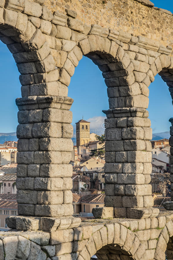 Download Aqueduct Of Segovia At Castile And Leon, Spain Royalty Free Stock Photography - Image: 25639627