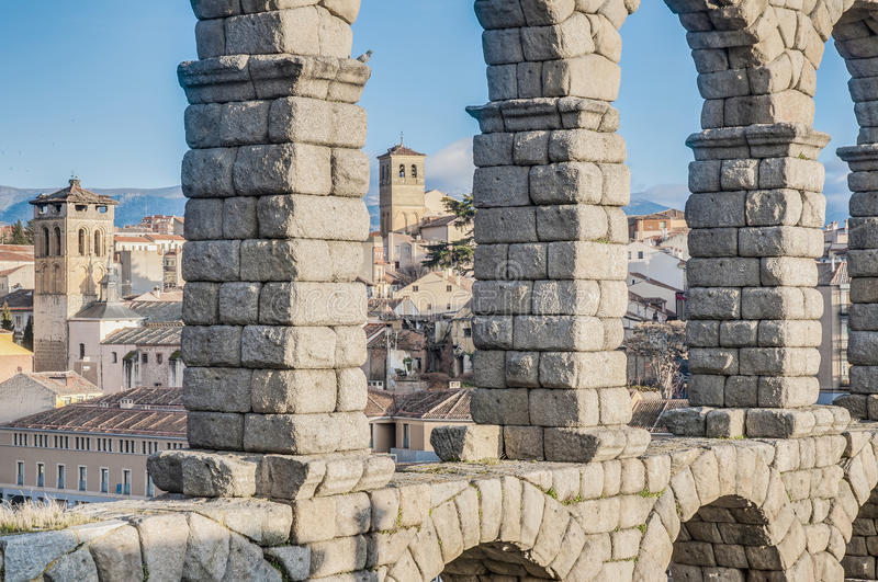 Download Aqueduct Of Segovia At Castile And Leon, Spain Stock Photo - Image of aqueduct, medieval: 39508578
