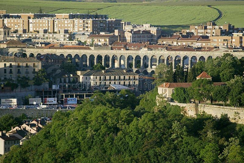 Aqueduct at Segovia, Spain royalty free stock image