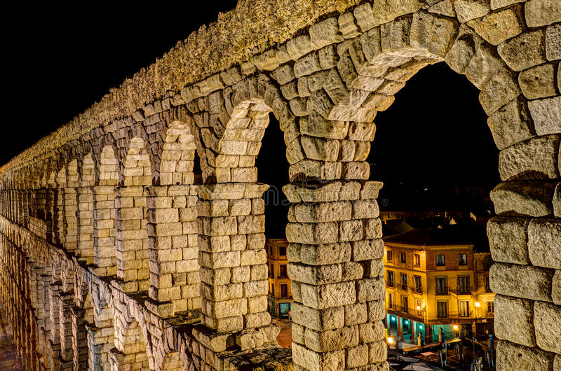 Download Aqueduct of Segovia, Spain stock photo. Image of landmark - 26581182