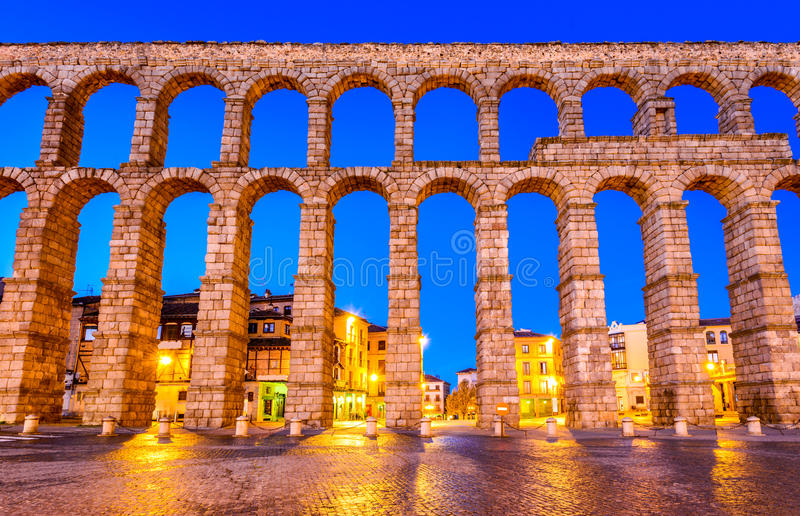 Aqueduct, Segovia, Spain royalty free stock images