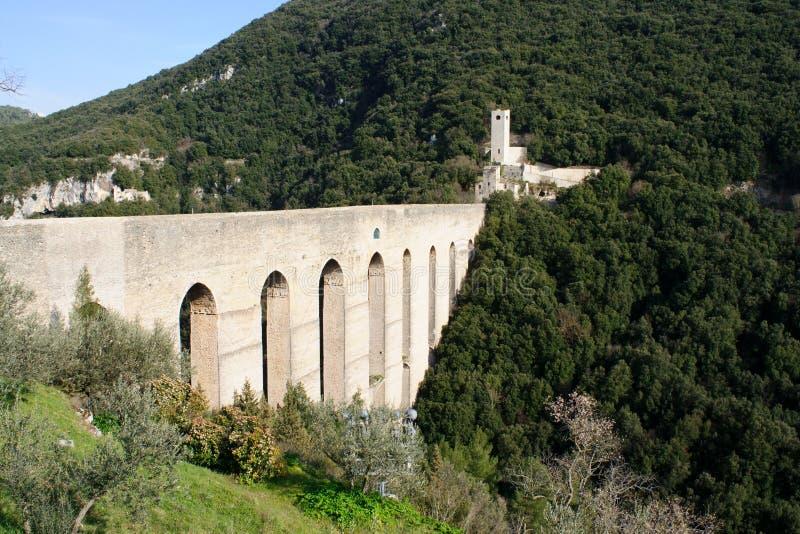 Aqueduct in Spoleto, Italy, Europe