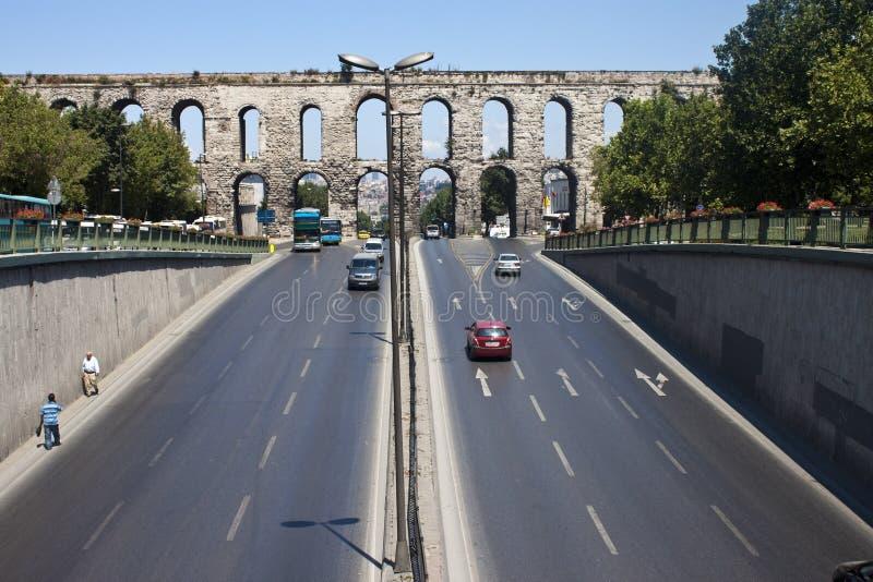 Aqueduct of Valens stock image