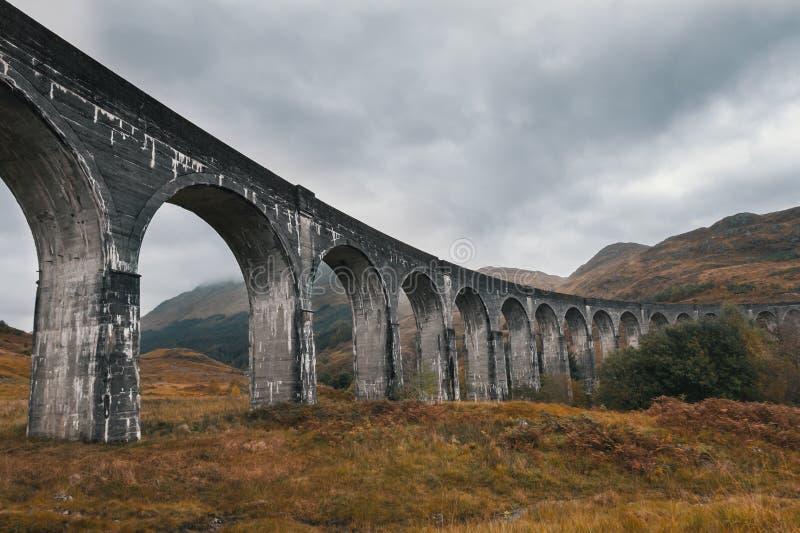 Aqueduto antigo - viaduto glenfinnan, Escócia, Reino Unido imagens de stock