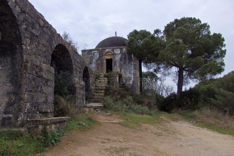 Aqueduto de Pegoes Tomar Portugal arkivfoto