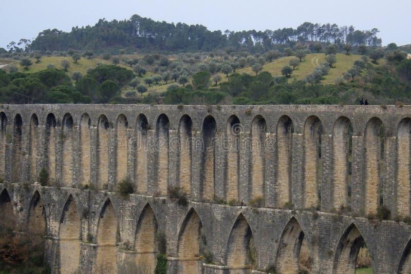 Aqueduto de Pegoes Tomar Portugal fotografering för bildbyråer
