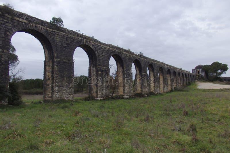 Aqueduto de Pegoes Tomar Portugal arkivfoton