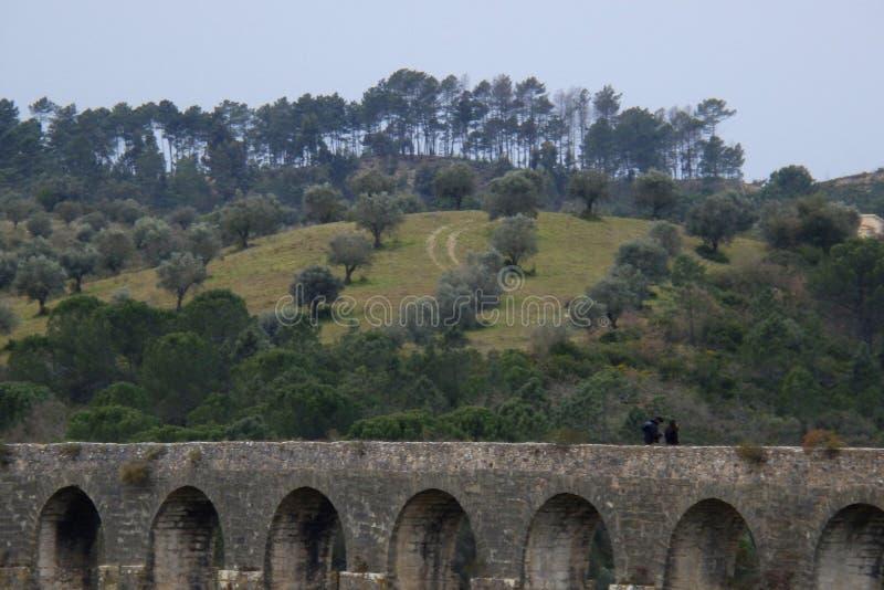 Aqueduto de Pegoes Tomar Portugal royaltyfria bilder