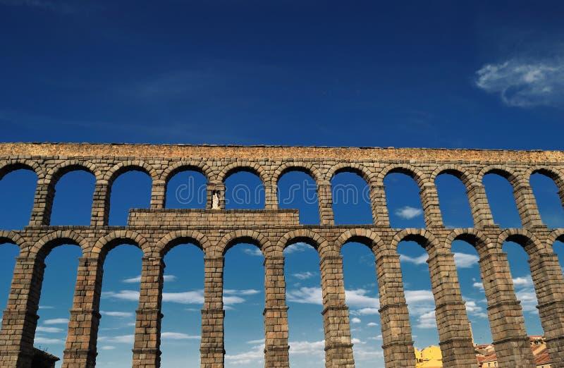 Aqueduto de Segovia imagem de stock