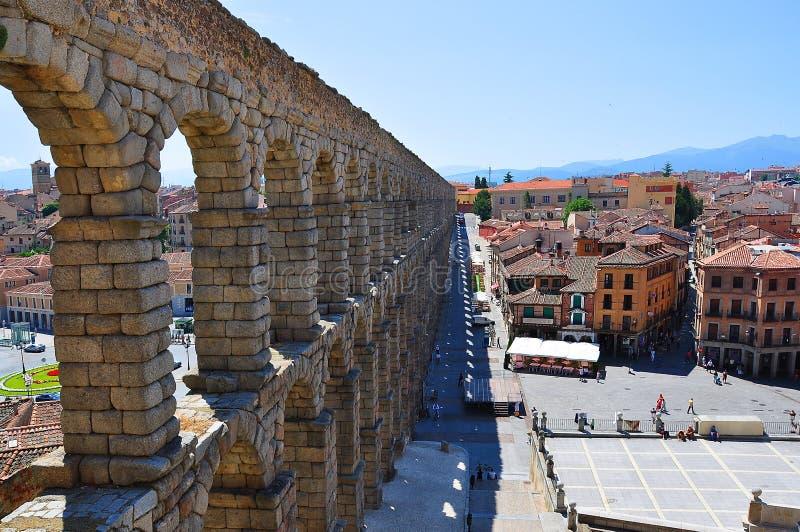 Aqueduto de Segovia, Spain imagens de stock royalty free