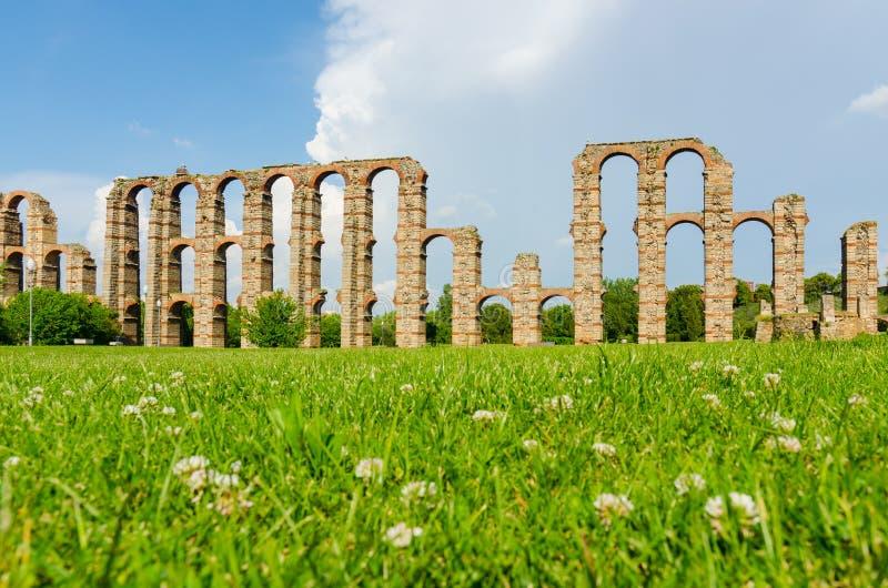 Aqueduto dos milagre, Merida foto de stock royalty free