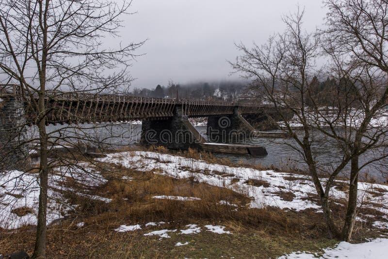 Aqueduto histórico de Delaware - Delaware e Hudson Canal Heritage Site foto de stock royalty free
