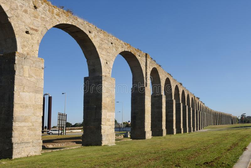 Aqueduto romano de Vila do Conde, imagens de stock