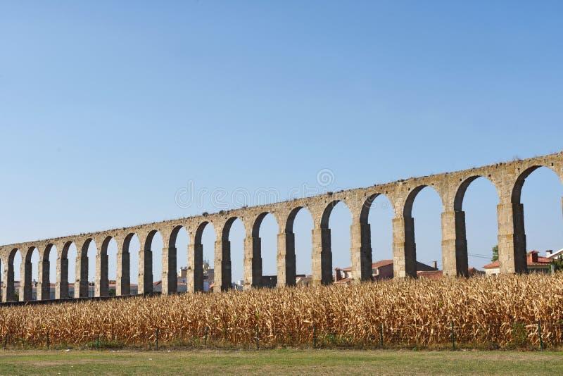 Aqueduto romano de Vila do Conde, Portugal foto de stock royalty free