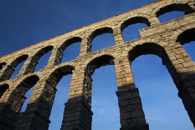 Aqueduto romano em Segovia, Spain fotografia de stock