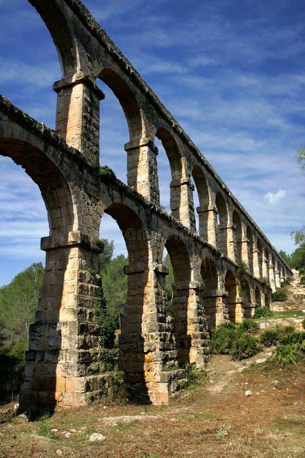 Aqueduto romano, Tarragona, Spain fotos de stock royalty free