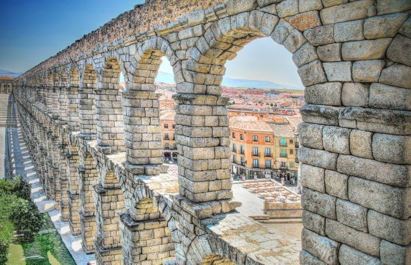 Aqueduto, Segovia, Espanha imagens de stock royalty free