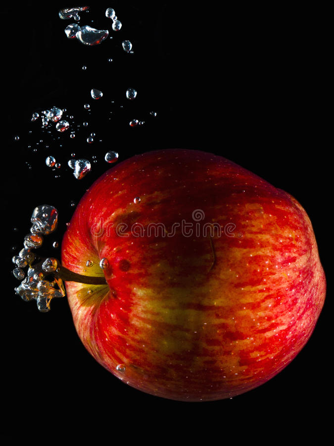 Aqueous apple royalty free stock images