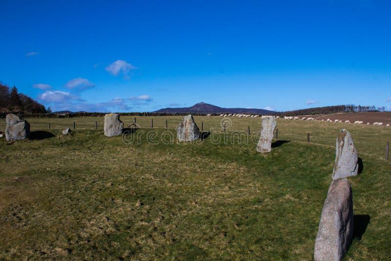 Aquhorthies Stone Circle stock photos