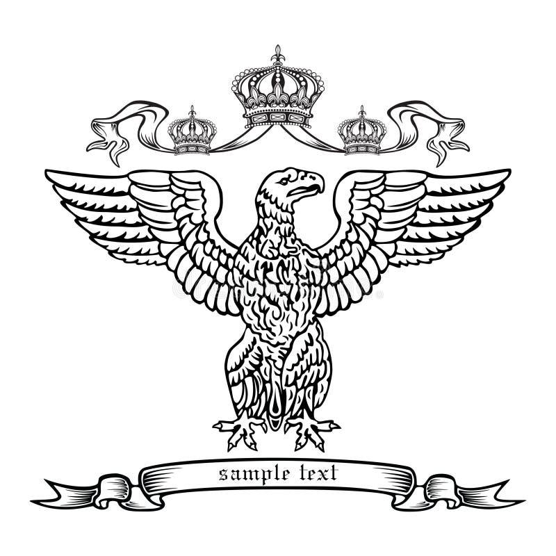 Aquila araldica. illustrazione di stock