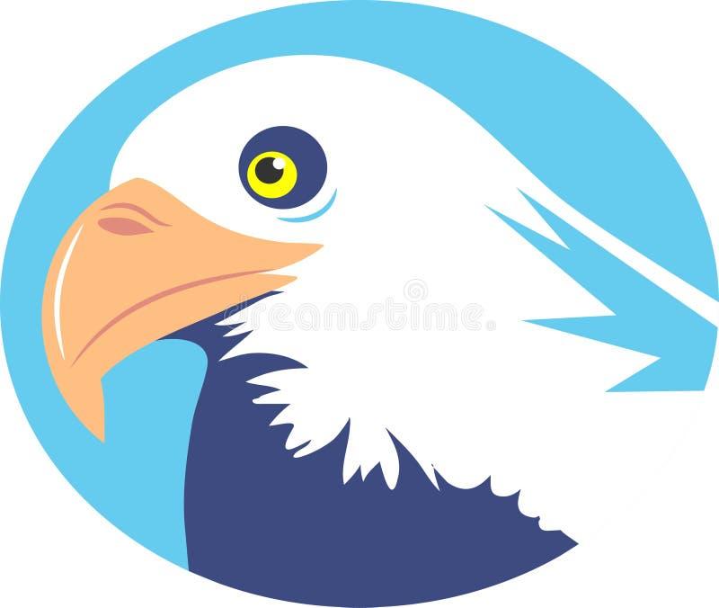 Aquila calva illustrazione vettoriale