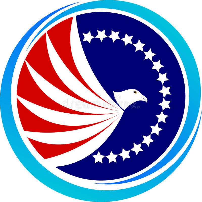 Aquila calva americana illustrazione di stock