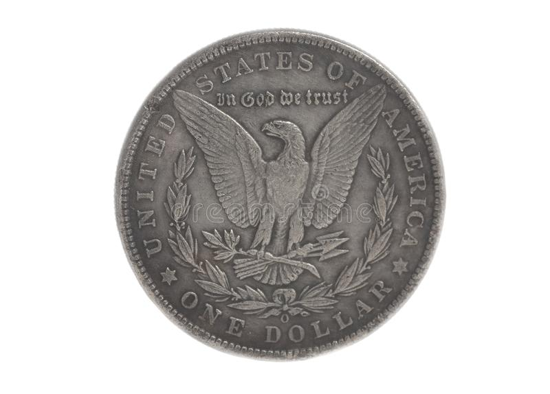 Aquila d'argento americana una moneta del dollaro fotografie stock libere da diritti