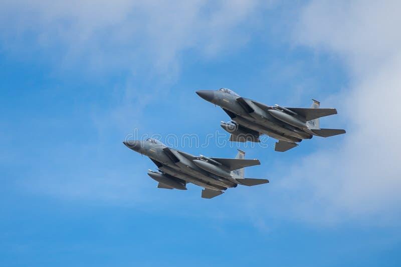 Aquila di colpo della Mcdonnell Douglas F-15E fotografia stock libera da diritti