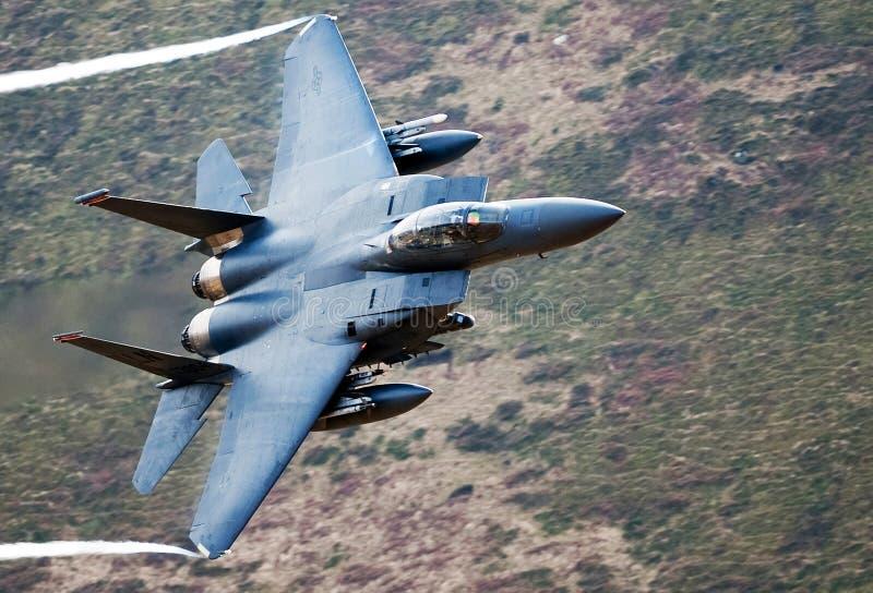 Aquila di colpo di F-15E fotografie stock libere da diritti