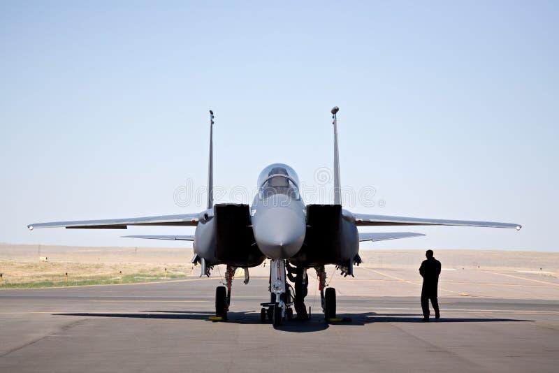 Aquila di colpo F-15 fotografie stock