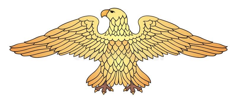 Aquila dorata illustrazione vettoriale