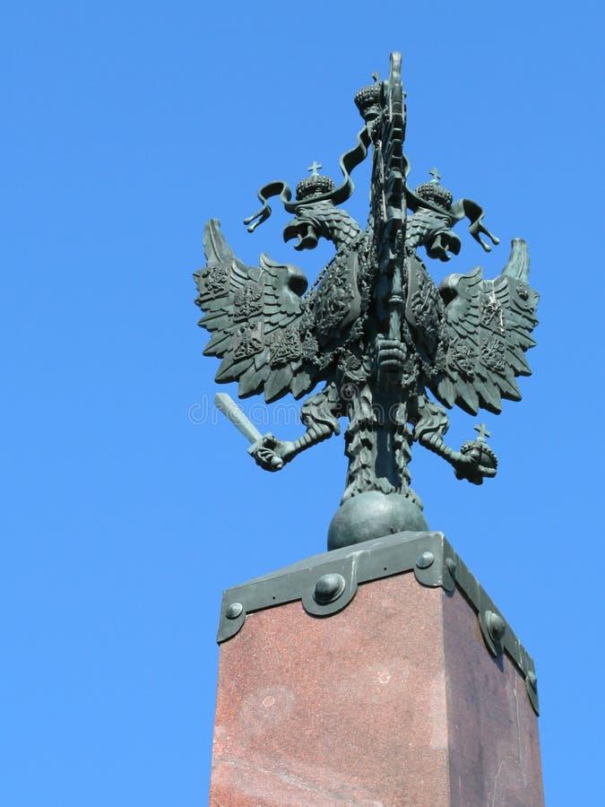 Aquila imperiale a due punte russa immagine stock